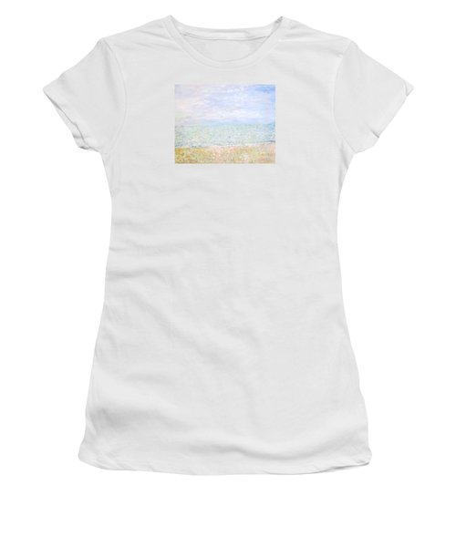 Lake Michigan At Oak St Bch Chicago Women's T-Shirt (Athletic Fit)