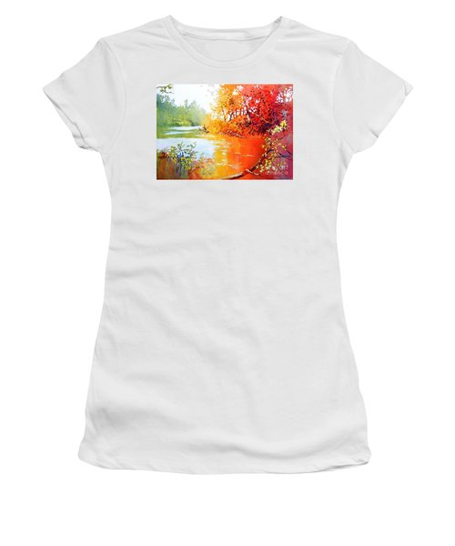 Lakescene 1 Women's T-Shirt (Athletic Fit)