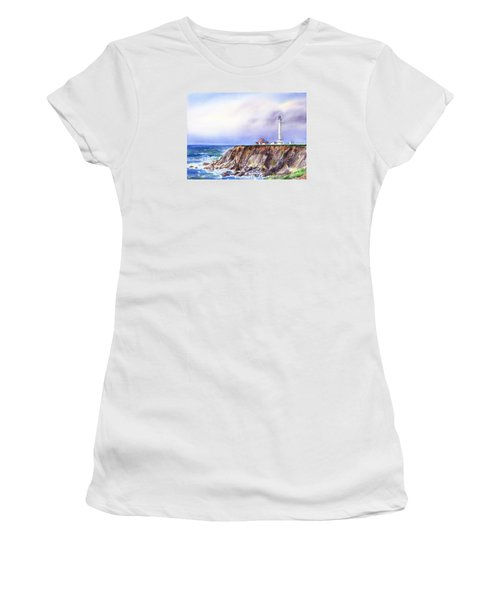 Lighthouse Point Arena California  Women's T-Shirt