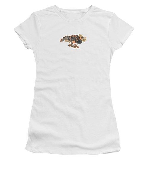 Large Blotched Salamander2 Women's T-Shirt (Junior Cut) by Cindy Hitchcock