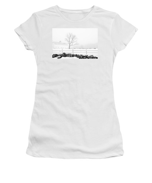 Women's T-Shirt (Junior Cut) featuring the photograph Late Winter by Alana Ranney