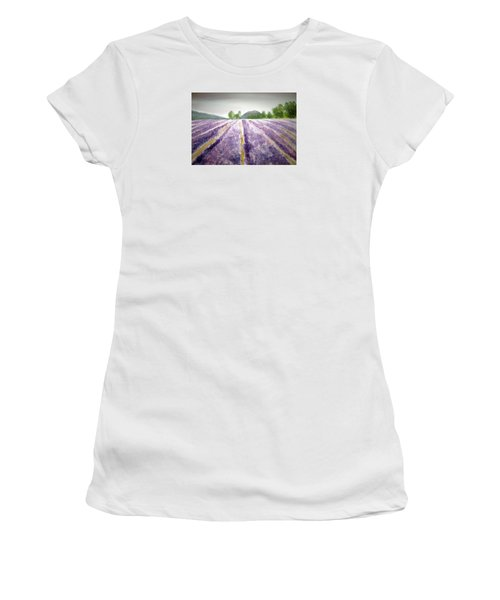 Lavender Fields  Women's T-Shirt (Athletic Fit)