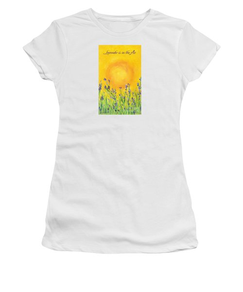 Lavender In The Air Women's T-Shirt (Athletic Fit)