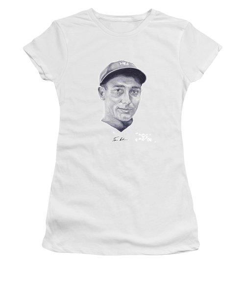 Women's T-Shirt (Junior Cut) featuring the painting Lazzeri by Tamir Barkan