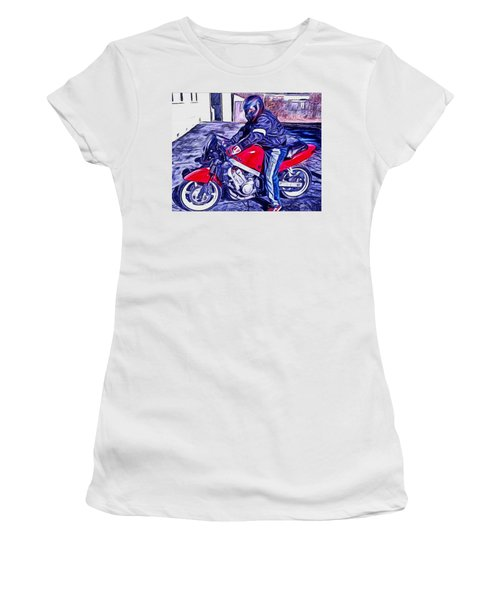 Learn How To Ride Women's T-Shirt (Athletic Fit)