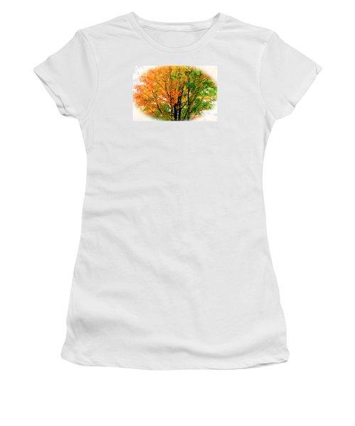 Leaves Changing Colors Women's T-Shirt (Junior Cut) by Cynthia Guinn