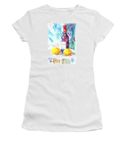 Lemons And Wine And A Little Sunshine Women's T-Shirt (Athletic Fit)