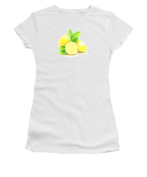 Lemons Women's T-Shirt (Junior Cut) by Veronica Minozzi