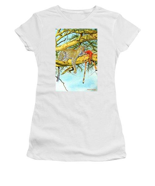 Leopard With A Kill Women's T-Shirt