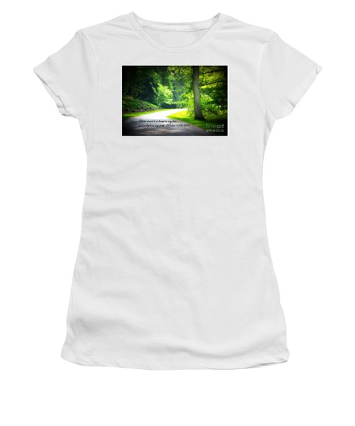 Light To My Path Women's T-Shirt (Athletic Fit)