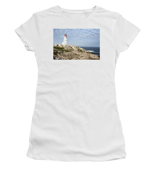Lighthouse At Peggys Point Nova Scotia Women's T-Shirt (Athletic Fit)