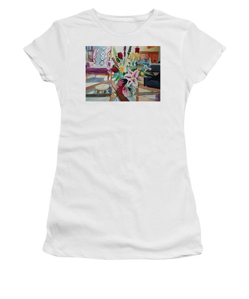 Lily Still Life Women's T-Shirt (Athletic Fit)