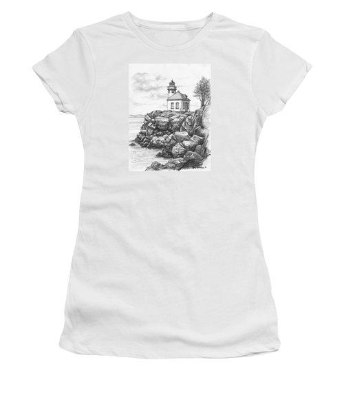Lime Kiln Lighthouse Women's T-Shirt (Junior Cut) by Kim Lockman