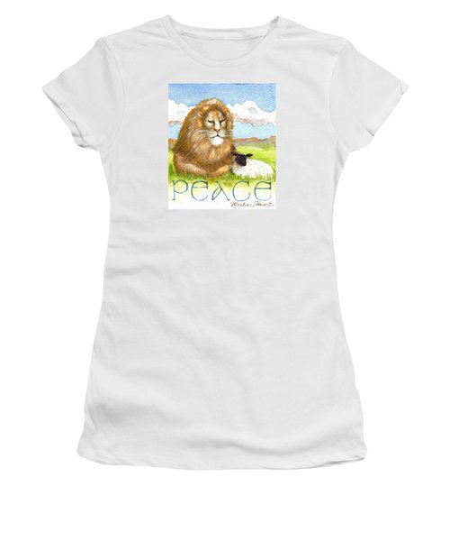 Lion And Lamb - Peace  Women's T-Shirt