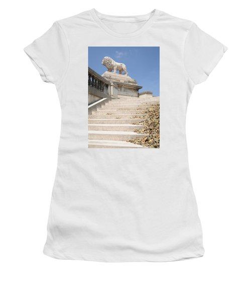 Lion Tuileries Garden Paris Women's T-Shirt (Athletic Fit)