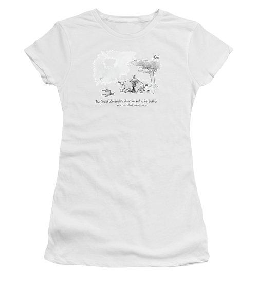 Lions Devour Their Circus Tamer Women's T-Shirt