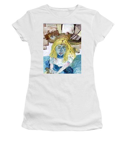 Little Girl Drawing Women's T-Shirt