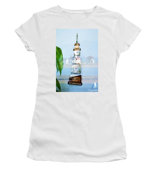 Living By The Sea - Pacific Ocean Women's T-Shirt (Athletic Fit)