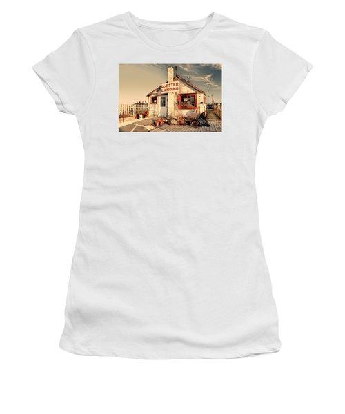 Lobster Landing Clinton Connecticut Women's T-Shirt (Athletic Fit)