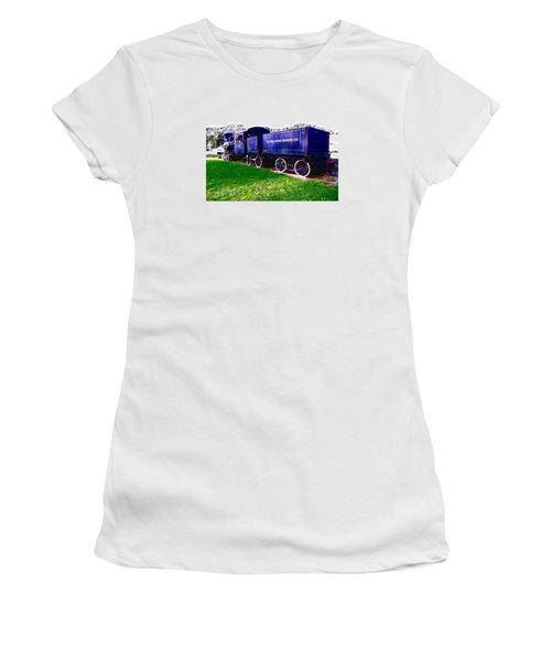 Locomotive Steam Engine Women's T-Shirt (Junior Cut) by Sadie Reneau