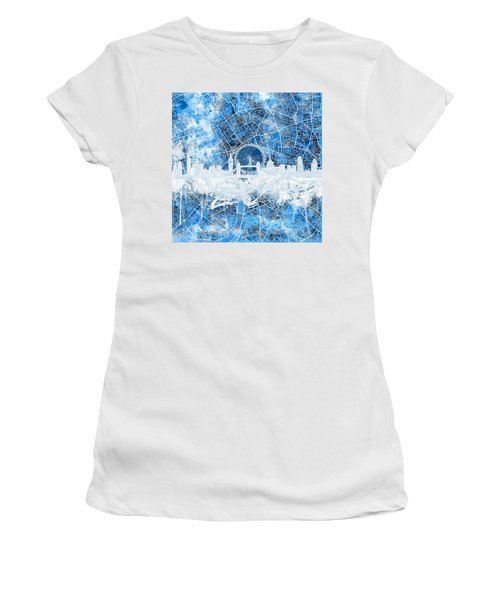 London Skyline Abstract 13 Women's T-Shirt (Athletic Fit)