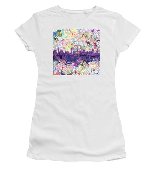 London Skyline Abstract Women's T-Shirt (Athletic Fit)