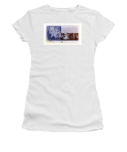 Women's T-Shirt (Junior Cut) featuring the photograph Lone Star Flag Mural by Nadalyn Larsen