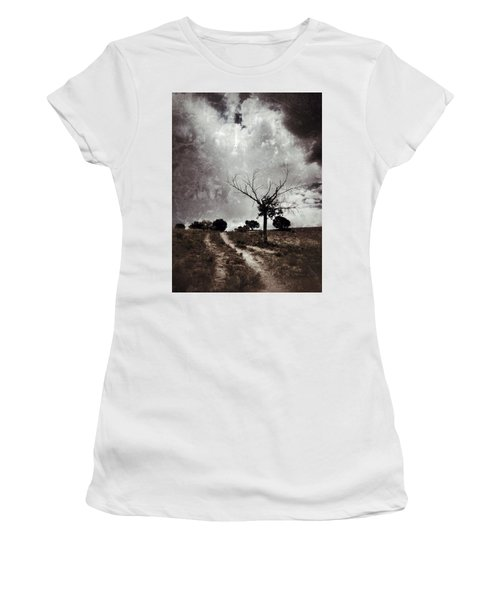 Lonely Tree Women's T-Shirt (Junior Cut) by Mark David Gerson