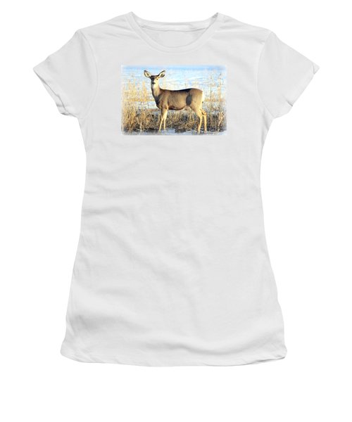 Women's T-Shirt (Junior Cut) featuring the photograph Lonesome Doe Sunset by Barbara Chichester