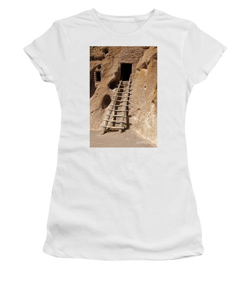 Long House Front Door Bandelier National Monument Women's T-Shirt (Athletic Fit)