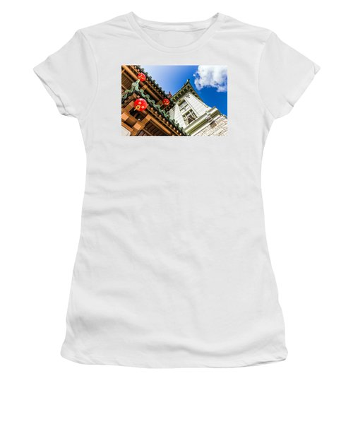 Women's T-Shirt featuring the photograph Looking Up by Kate Brown