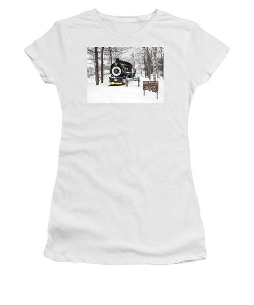 Loon Mountain Train Women's T-Shirt (Junior Cut)