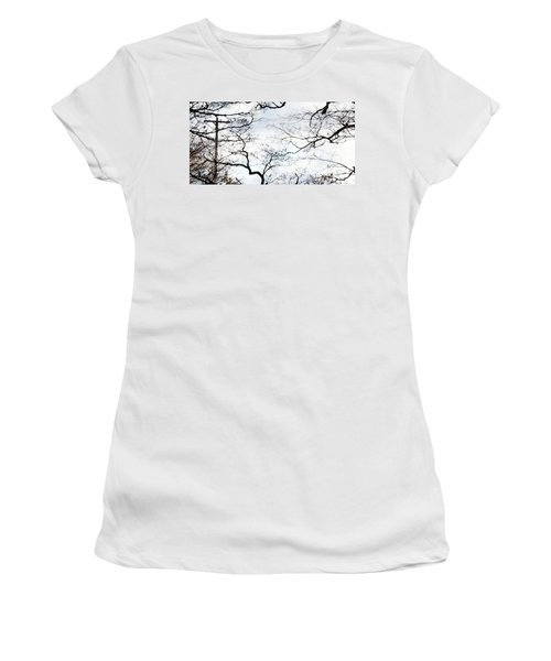 Women's T-Shirt featuring the photograph Lost Lines by Linda Shafer