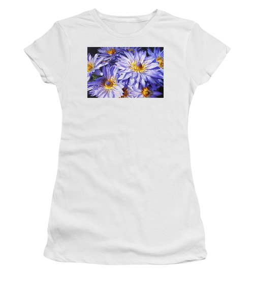 Lotus Light - Hawaiian Tropical Floral Women's T-Shirt (Athletic Fit)