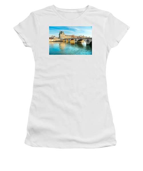 Louvre Museum And Pont Royal - Paris  Women's T-Shirt (Athletic Fit)