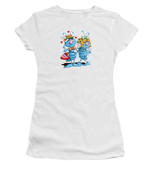 Love Bugs Women's T-Shirt (Junior Cut) by Scott Ross