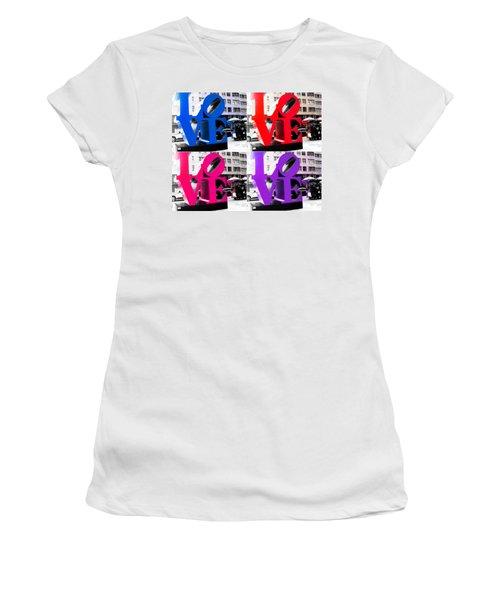 Love Pop Women's T-Shirt (Junior Cut) by J Anthony