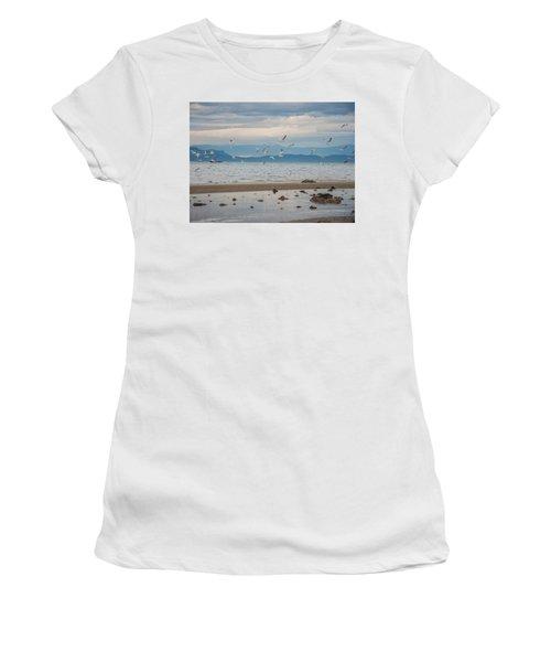 Herring Season  Women's T-Shirt (Junior Cut) by Roxy Hurtubise