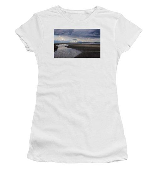 Tidal Design Women's T-Shirt (Junior Cut) by Roxy Hurtubise