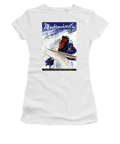 Mademoiselle Cover Featuring An Illustration Women's T-Shirt
