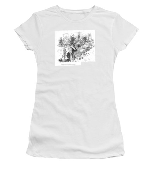 Mamma, There's A Lot Of People In My Bed Women's T-Shirt