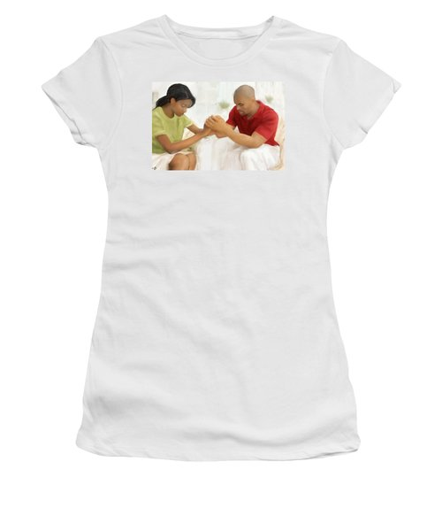 Man And Wife Pray Women's T-Shirt (Athletic Fit)
