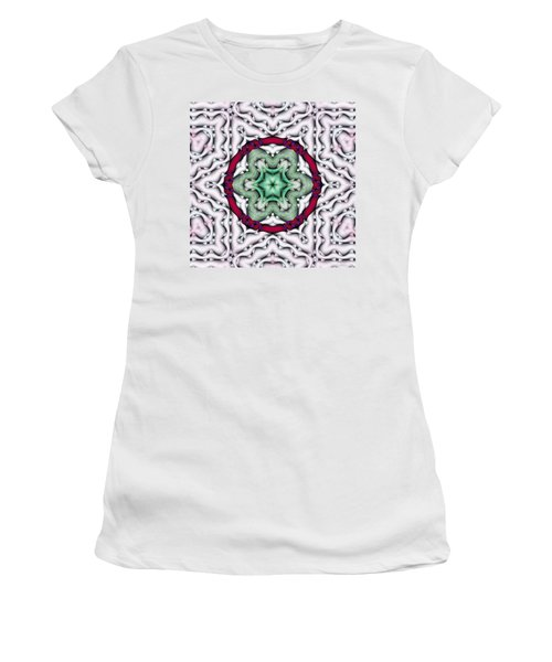 Women's T-Shirt (Junior Cut) featuring the photograph Mandala 7 by Terry Reynoldson