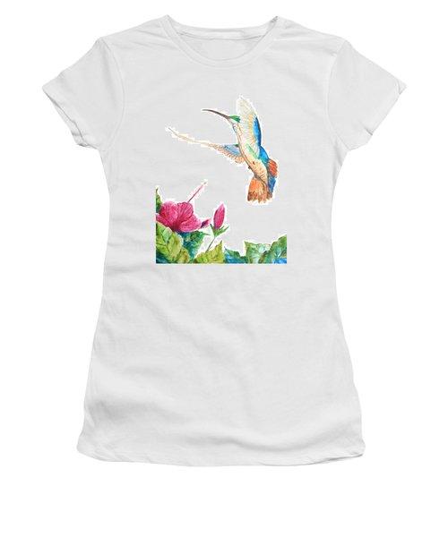 Mango Hummingbird Women's T-Shirt (Athletic Fit)