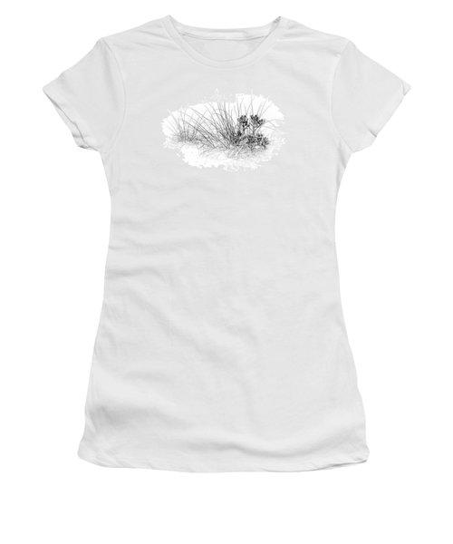 Mangrove And Sea Oats-bw Women's T-Shirt
