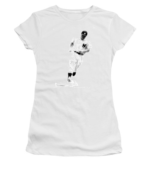 Mantles Gate  Mickey Mantle Women's T-Shirt (Junior Cut) by Iconic Images Art Gallery David Pucciarelli
