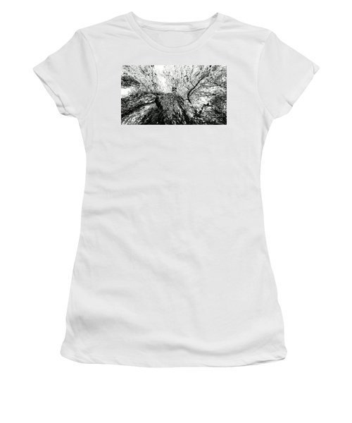Women's T-Shirt (Junior Cut) featuring the photograph Maple Tree Inkblot by CML Brown