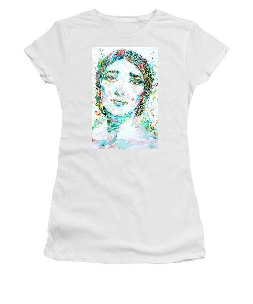 Maria Callas - Watercolor Portrait.1 Women's T-Shirt (Athletic Fit)