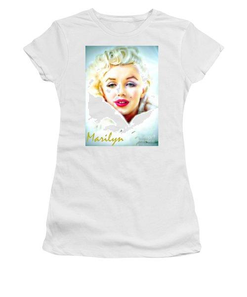 Marilyn Monroe Women's T-Shirt (Junior Cut) by Barbara Chichester