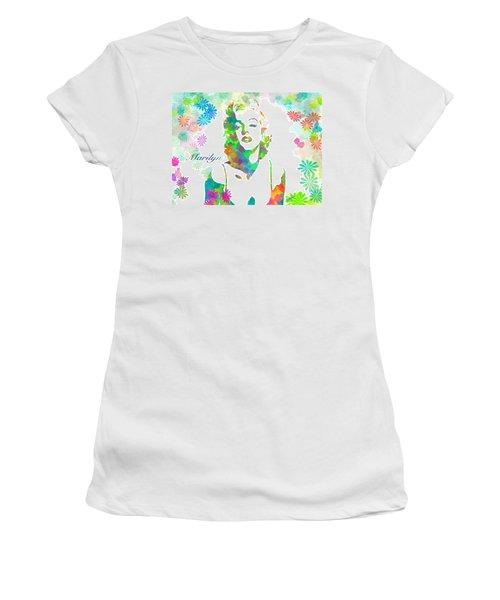 Marilyn Monroe Flowering Beauty Women's T-Shirt